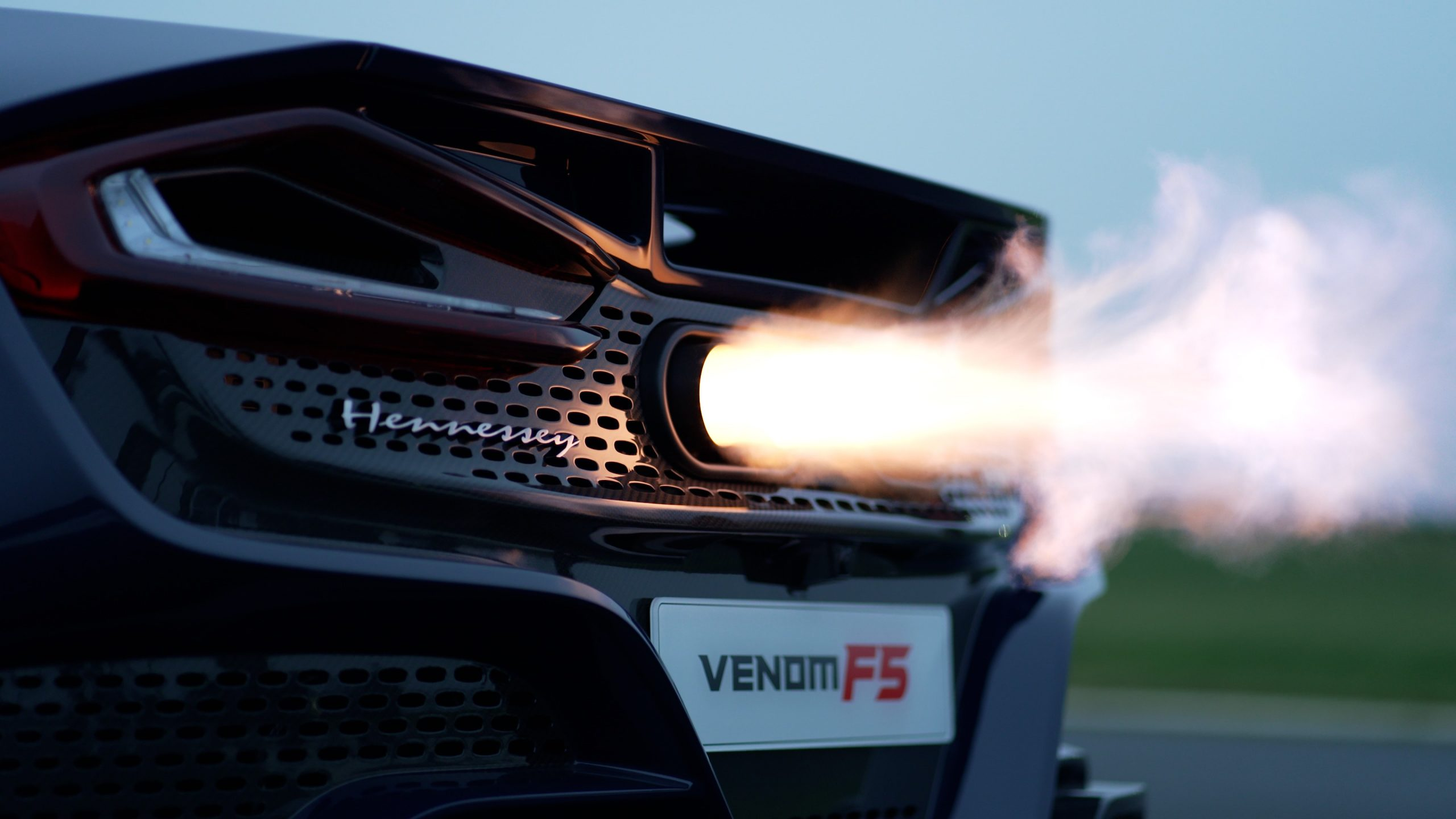 Supercar exhaust flames