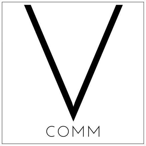 Vcomm logo - specialist automotive PR